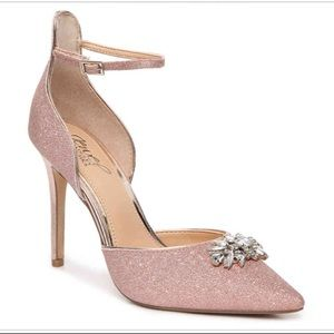 Bradley Mischka Jewel Lea II pump rose gold